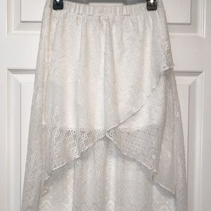 (5 for 25) lace knit high-low maxi skirt